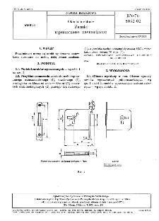Okucia meblowe - Zamki wpuszczane zastawkowe BN-76/5052-02