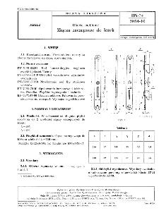Okucia meblowe - Złącza zaczepowe do łóżek BN-74/5054-10