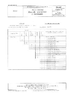Okucia meblowe - Zasuwki wierzchnie z zaczepami BN-90/5054-11