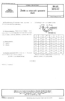 Żłobki w miejscach spawania blach BN-65/3813-42