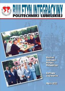 Biuletyn informacyjny Politechniki Lubelskiej 1(4)/2000 : dodatek specjalny : Biuletyn Integracyjny Politechniki Lubelskiej