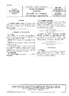 Wyroby szczotkarskie - Szczotki - Szczotki do instalacji centralnego ogrzewania BN-86/4550-06/75