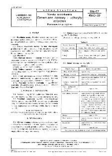 Wyroby szczotkarskie - Drewniane oprawy i uchwyty szczotek - Postanowienia ogólne BN-77/4550-30
