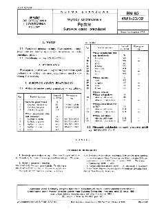 Wyroby szczotkarskie - Pędzle - Surowce części pracującej BN-85/4551-23/02