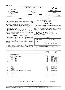 Wyroby szczotkarskie - Pędzle - Oprawy i trzonki BN-85/4551-23/03