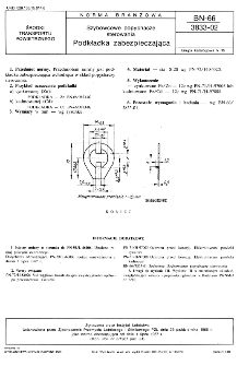 Szybowce popychacze sterowania - Podkładka zabezpieczająca BN-66/3833-02