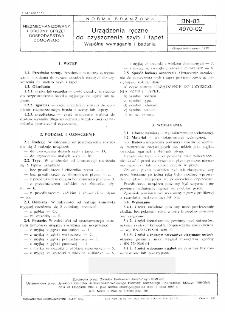 Urządzenia ręczne do czyszczenia szyb i tapet - Wspólne wymagania i badania BN-83/4970-02