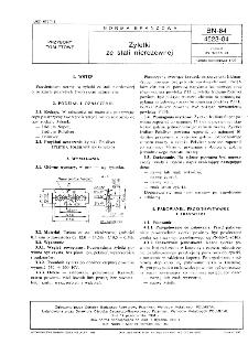 Żyletki ze stali nierdzewnej BN-84/4523-04