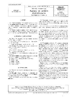 Wyroby nożownicze - Aparaty do golenia nieelektryczne - Wymagania i badania BN-84/4524-01