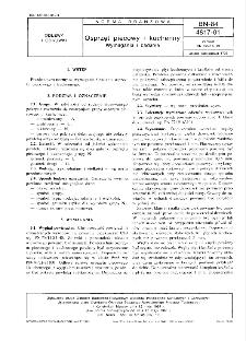 Osprzęt piecowy i kuchenny - Wymagania i badania BN-84/4817-01