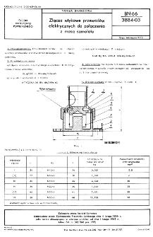 Złącza wtykowe przewodów elektrycznych do połączenia z masą samolotu BN-66/3884-03