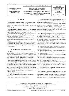 Elektryczne przyrządy powszechnego użytku - Domowe maszyny do szycia - Wymagania i badania uzupełniające oraz program badań BN-84/4944-01/04