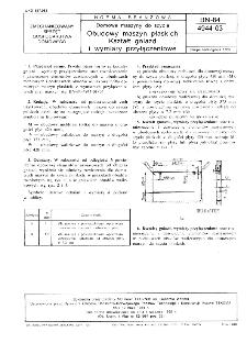 Domowe maszyny do szycia - Obudowy maszyn płaskich - Kształt gniazd i wymiary przyłączeniowe BN-84/4944-03