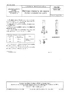 Domowe maszyny do szycia - Wymiary przyłączeniowe igielnic BN-88/4944-04