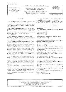 Elektryczne przyrządy grzejne gospodarstwa domowego - Ograniczniki temperatury - Ogólne wymagania i badania BN-84/4945-06