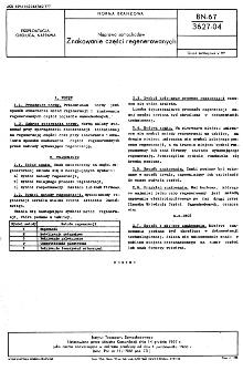 Naprawa samochodów - Znakowanie części regenerowanych BN-67/3627-04