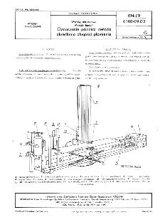 Wyroby aerozolowe - Metody badań - Oznaczanie palności metodą określania długości płomienia BN-79/6140-09.02