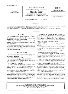 Pojemniki i zawory aerozolowe - Metody badań - Oznaczanie równomierności antykorozyjnej powłoki lakierowej BN-91/6140-09/03