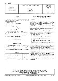 Sacharyna - Tabletki BN-83/6188-02