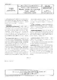 Wyroby chemii gospodarczej - Płynne środki do ręcznego mycia naczyń - Postanowienia ogólne BN-88/6143-01/01