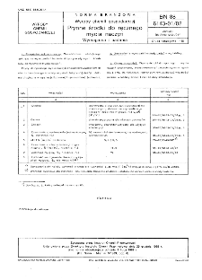 Wyroby chemii gospodarczej - Płynne środki do ręcznego mycia naczyń - Wymagania i badania BN-88/6143-01/02