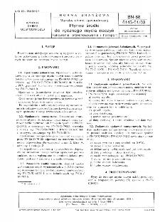 Wyroby chemii gospodarczej - Płynne środki do ręcznego mycia naczyń - Pakowanie, przechowywanie i transport BN-88/6143-01/03