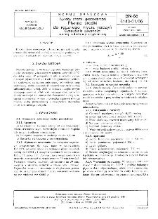 Wyroby chemii gospodarczej - Płynne środki do ręcznego mycia naczyń - Oznaczanie zawartości suchej substancji organicznej BN-88/6143-01/06