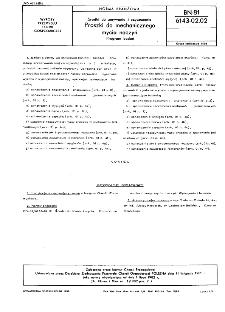 Środki do prania i mycia - Proszki do mechanicznego mycia naczyń - Program badań BN-81/6143-02.02