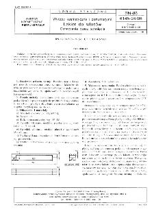 Wyroby kosmetyczne i perfumeryjne - Lakier do włosów - Oznaczanie czasu schnięcia BN-86/6145-24/06