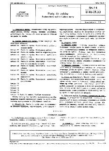 Pasty do zębów - Postanowienia ogólne i zakres normy BN-74/6146-01.00