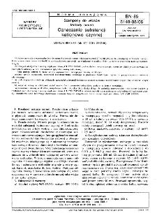 Szampony do włosów - Metody badań - Oznaczanie substancji kationowo czynnej BN-85/6140-08.06