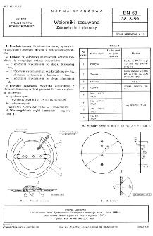 Wzierniki zasuwane - Zestawienie i elementy BN-68/3813-59