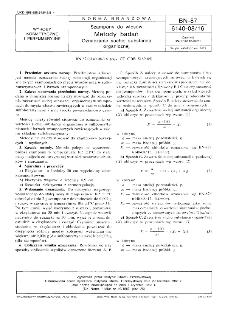 Szampony do włosów - Metody badań - Oznaczanie suchej substancji organicznej BN-87/6140-08.16