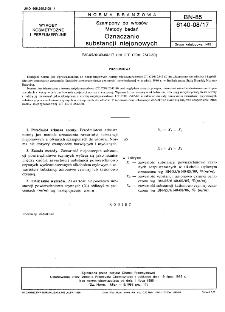 Szampony do włosów - Metody badań - Oznaczanie substancji niejonowych BN-85/6140-08/17