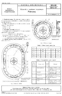 Wzierniki z zamkiem krzyżowym - Pokrywy BN-68/3813-61