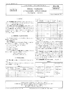 Dreny medyczne z kauczuku silikonowego - Wymagania i badania BN-89/5919-12