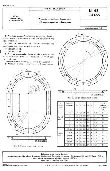 Wzierniki z zamkiem krzyżowym - Obramowania otworów BN-68/3813-65