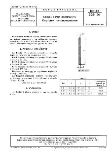 Szklany sprzęt laboratoryjny - Kapilary heparynowane BN-85/5951-04