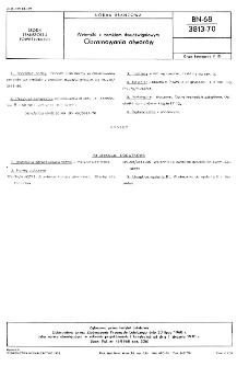 Wzierniki z zamkiem dwudźwigniowym - Obramowania otworów BN-68/3813-70