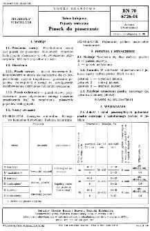 Tabor kolejowy - Pojazdy trakcyjne - Piasek do piasecznic BN-70/6726-01