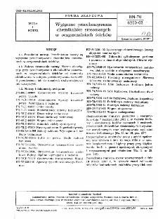 Wytyczne przechowywania chemikaliów stosowanych w oczyszczalniach ścieków BN-70/6210-02