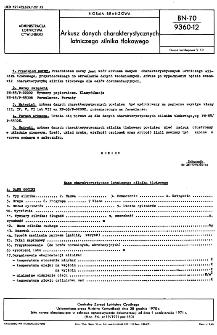 Arkusz danych charakterystycznych lotniczego silnika tłokowego BN-70/9360-12