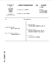 Stop eutektyczny : opis patentowy nr 219957