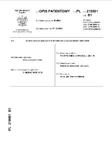 Sposób połączenia porcelany stomatologicznej z podłożem tytanowym : opis patentowy nr 219981