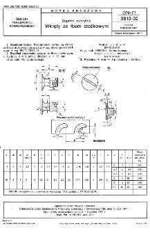 Zapinki pokrętne - Wkręty ze łbem stożkowym BN-71/3813-02