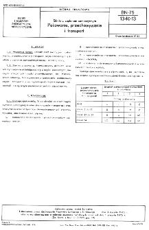 Silniki z zapłonem samoczynnym - Pakowanie, przechowywanie i transport BN-75/1340-13