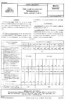 Silniki z zapłonem samoczynnym - Turbosprężarki - Ogólne wymagania i badania BN-72/1341-55
