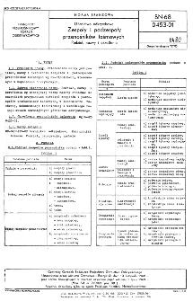 Górnictwo odkrywkowe - Zespoły i podzespoły przenośników taśmowych - Podział, nazwy i określenia BN-68/0453-01
