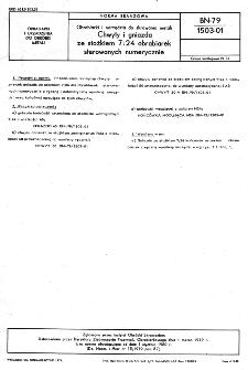 Obrabiarki i narzędzia do skrawania metali - Chwyty i gniazda ze stożkiem 7:24 obrabiarek sterowanych numerycznie BN-79/1503-01