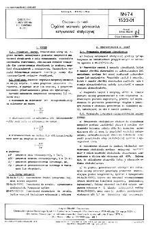 Obrabiarki do metali - Ogólne warunki pomiarów sztywności statycznej BN 74/1522-01